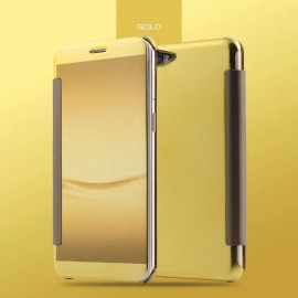Vaku ® OPPO F1S  Mate Smart Awakening Mirror Folio Metal Electroplated PC Flip Cover