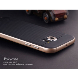 i-Paky ® Samsung Galaxy S6 Mat Series Ultra-thin Hybrid Silicon Grip Shockproof Protective Shell Back Cover