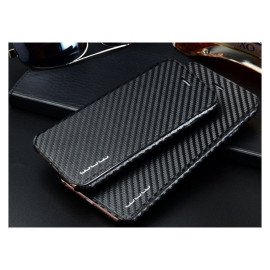 WUW ® Apple iPhone 6 Plus / 6S Plus Carbon Fiber Finish Ultra-Light & Thin Grip Flip Cover
