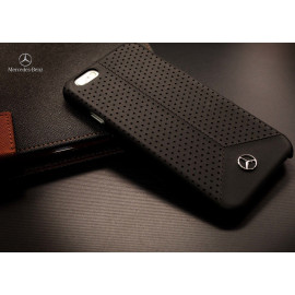 Mercedes Benz ® Apple iPhone 6 / 6S Pure Line Perforated Genuine Leather Hard Case Back Cover