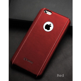Vaku ® Apple iPhone 6 / 6S King Series 4-Layer Stitched Textured Leather Shell with Logo Display Back Cover