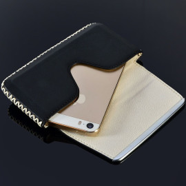 Pierre Cardin ® Apple iPhone 6 / 6S Paris Design Premium Leather Pouch Case