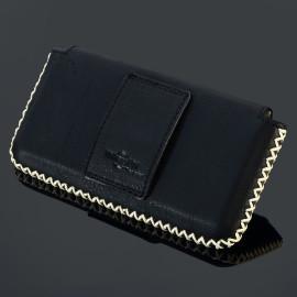 Pierre Cardin ® Apple iPhone 6 Plus / 6S Plus Paris Design Premium Leather Pouch Case