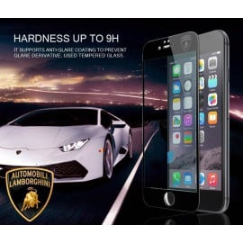 Lamborghini ® Apple iPhone 6 / 6S Official Full Coverage 0.3mm Ultra-thin 9H Hardness with Lamborghini Logo Tempered Glass