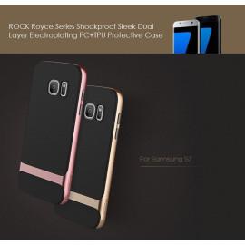 Rock ® Samsung Galaxy S7 Royle Case Ultra-thin Dual Metal Soft / Silicon Case