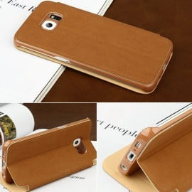 Baseus ® Samsung Galaxy S6 Smart Terse WindowView Suede Leather Case Flip Cover
