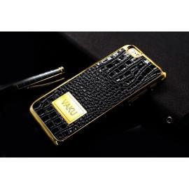 Vaku ® Apple iPhone 6 / 6S Premium Crocodile Leather Gold Electroplated Back Cover