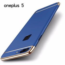Vaku ® OnePlus 5 Ling Series Ultra-thin Metal Electroplating Splicing PC Back Cover
